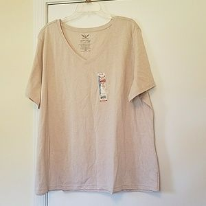 3 for $10. NWT V-neck heather tan t-shirt. Size 4X